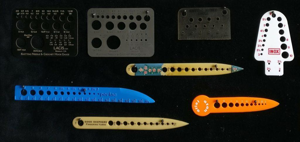 Boye Metal Stitch and Row Gauge Needle Check